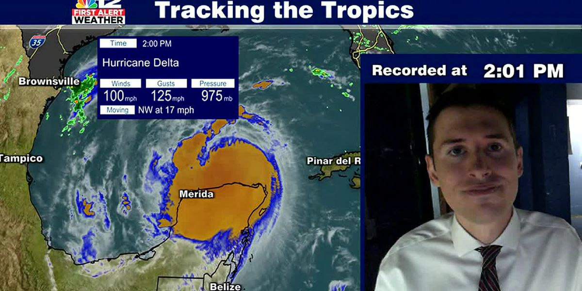 Hurricane Delta expected to re-strengthen the next few days
