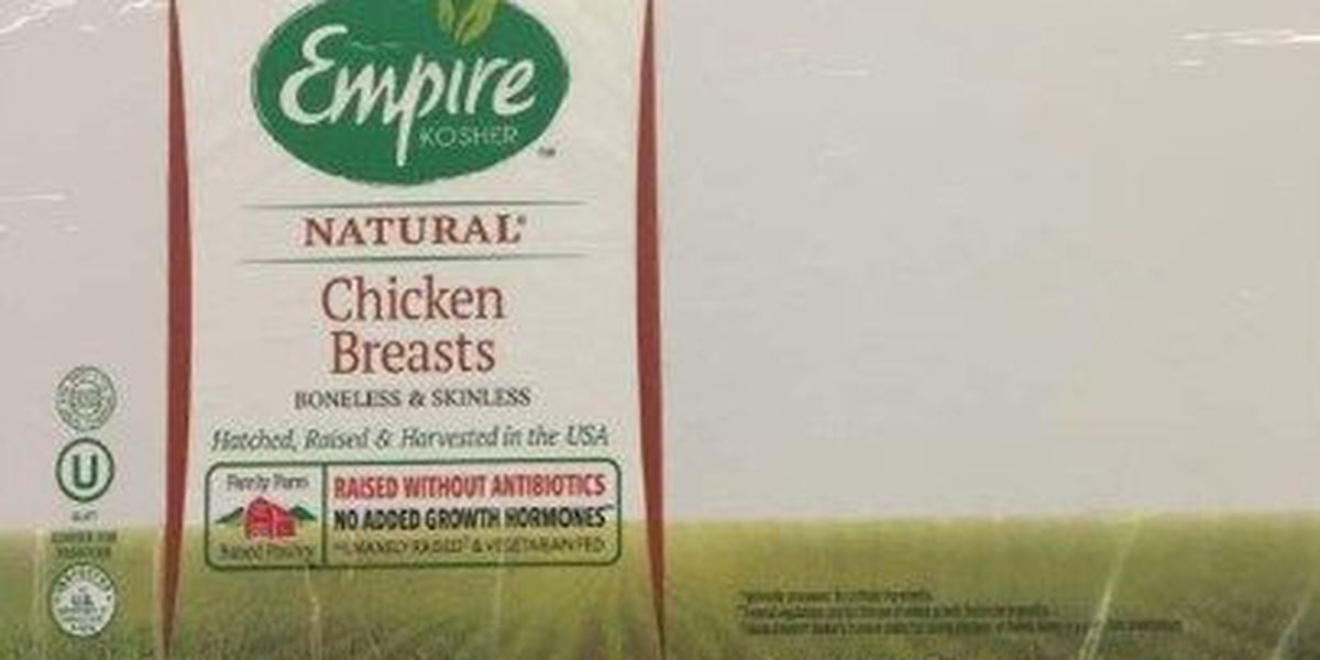 Nearly 11,000 lbs of chicken recalled over metal risk