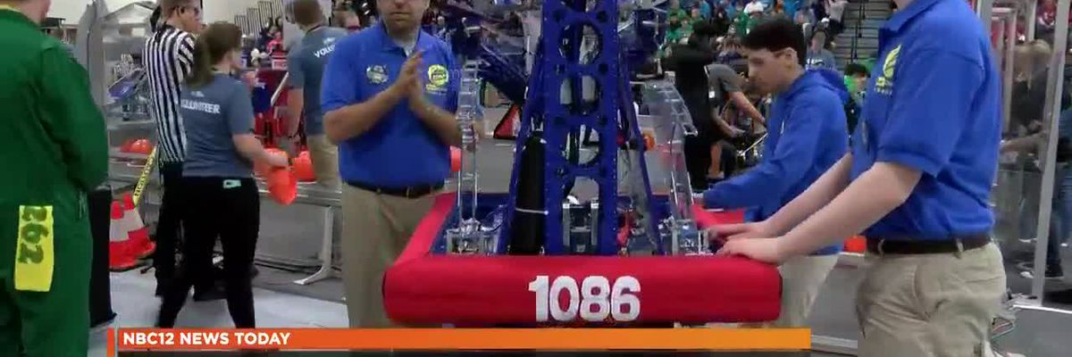 High schools participate in robotics competition at Deep Run High School