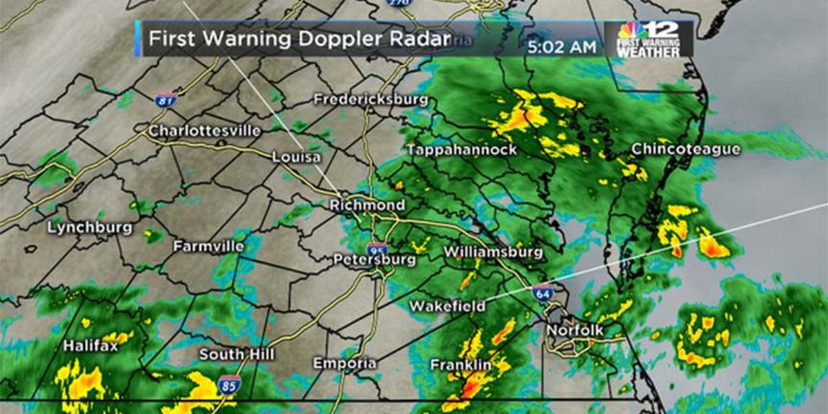 NOW ON NBC12: Heavy rain on busy travel day