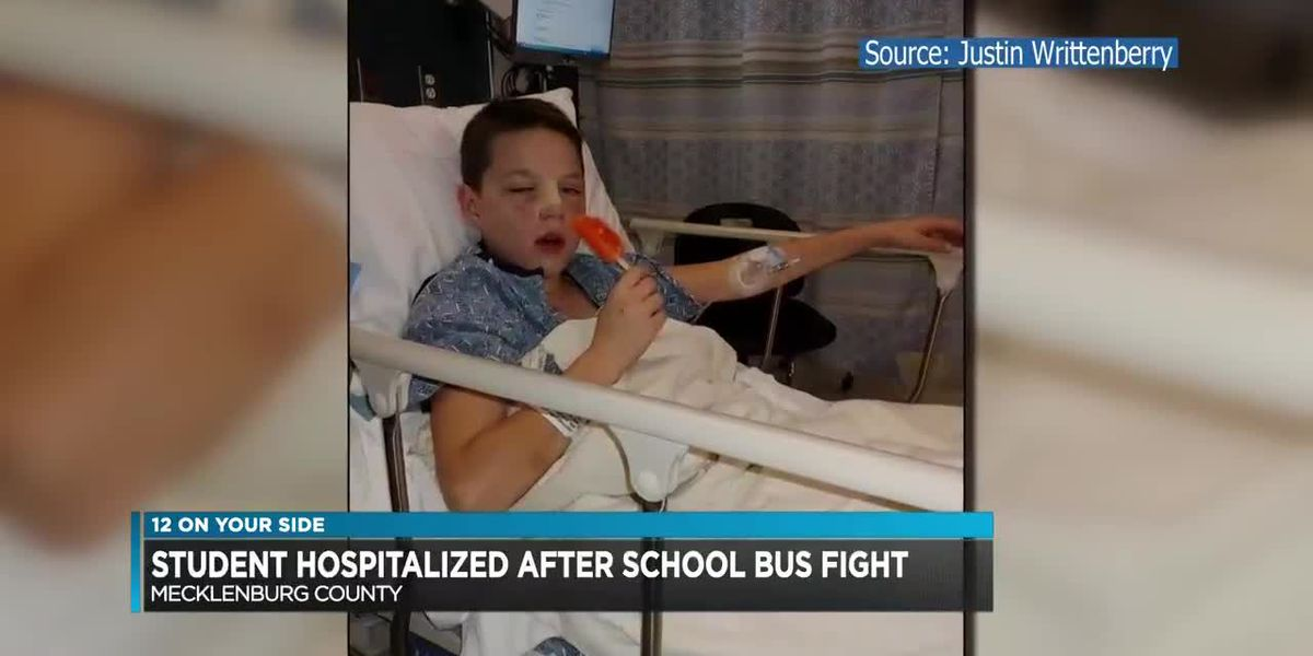 Student hospitalized after school bus fight