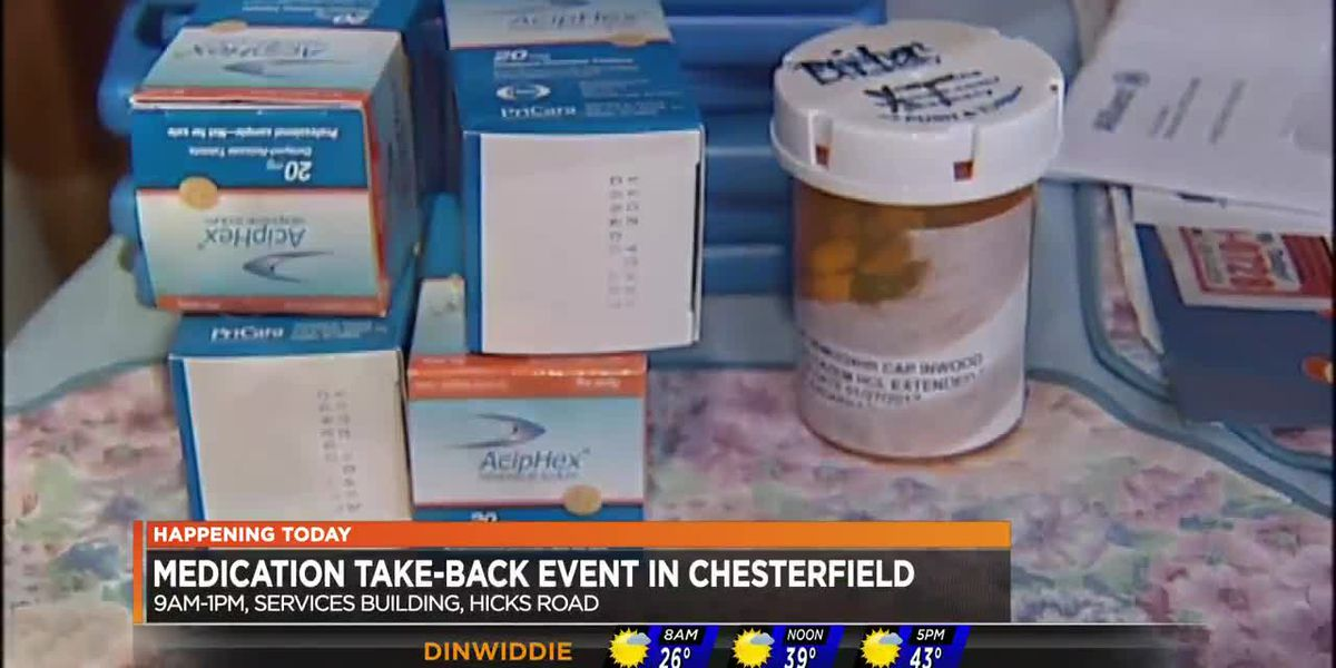 Unused, expired medications being accepted at Chesterfield event