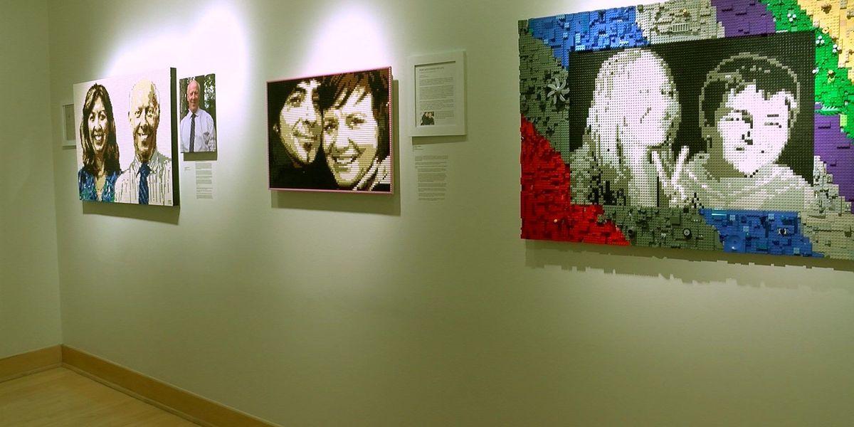Artist captures memories with Lego mosaic portraits