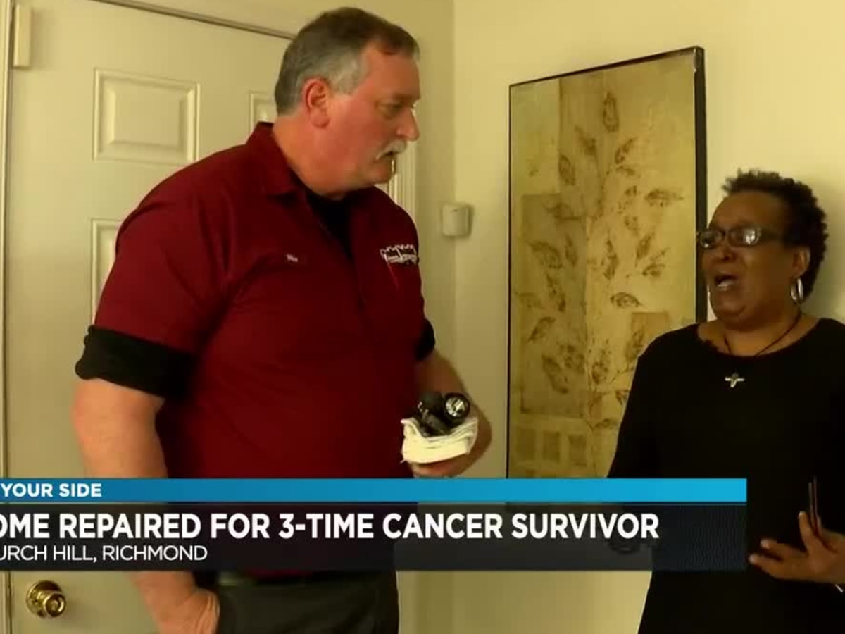 Company helps three-time cancer survivor with heating, plumbing problems