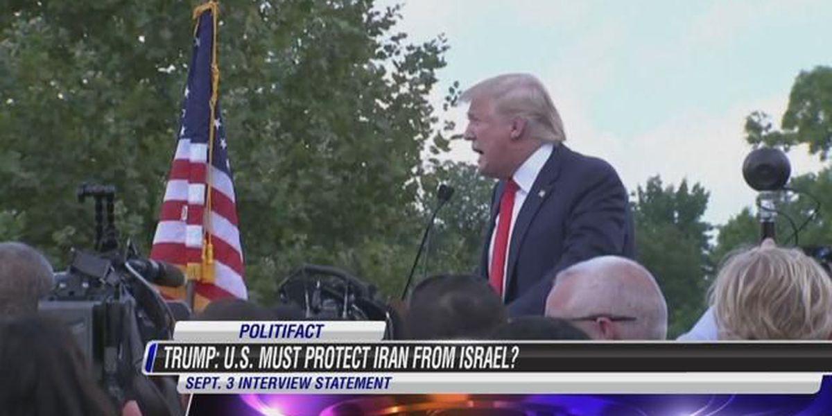 Politifact Virginia: Trump says U.S. must protect Iran from Israel