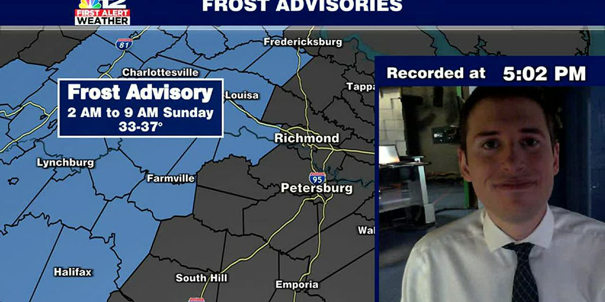First Alert: Frost Advisory tonight west of I-95