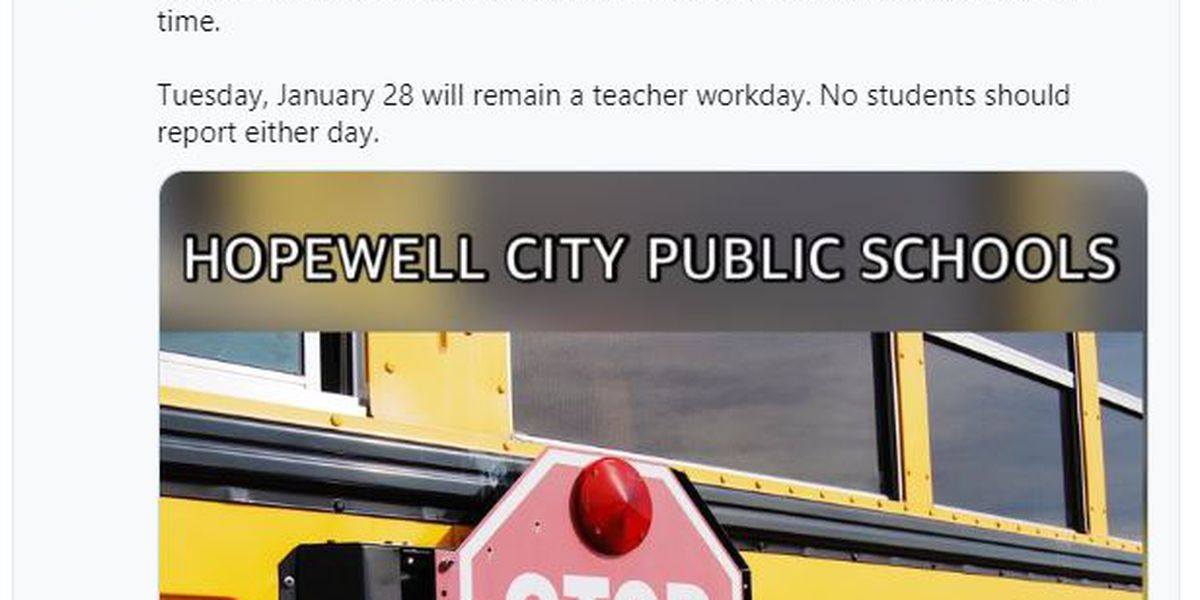 Hopewell Public Schools close for students Monday, Tuesday for boil water advisory