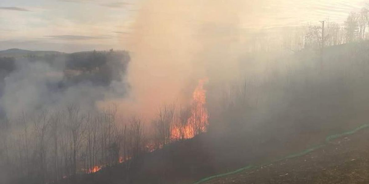 Wildfire breaks out Sunday afternoon in Boones Mill, Va