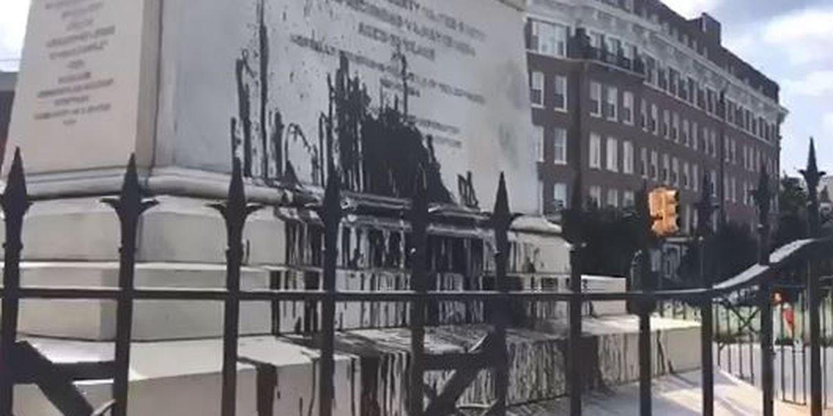 Police investigate vandalism of J.E.B. Stuart statue on Monument Avenue