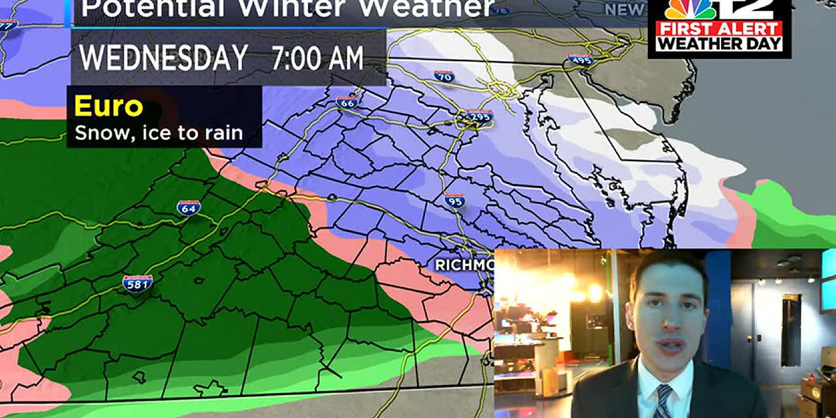 First Alert: Tracking multiple rain chances and snow potential early Wednesday