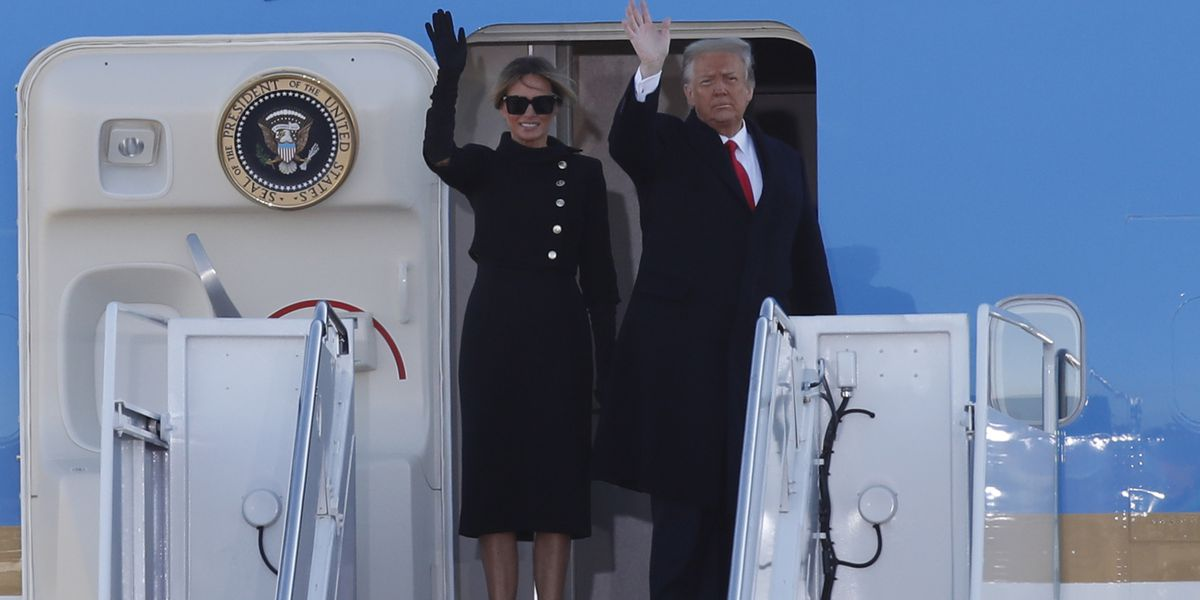 Trump bids farewell to Washington, hints of comeback