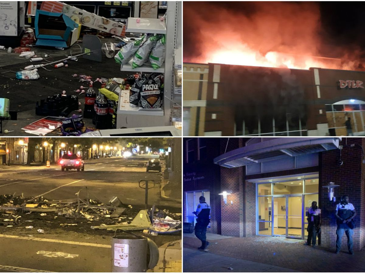 Numerous businesses set on fire, damaged & looted overnight in Richmond