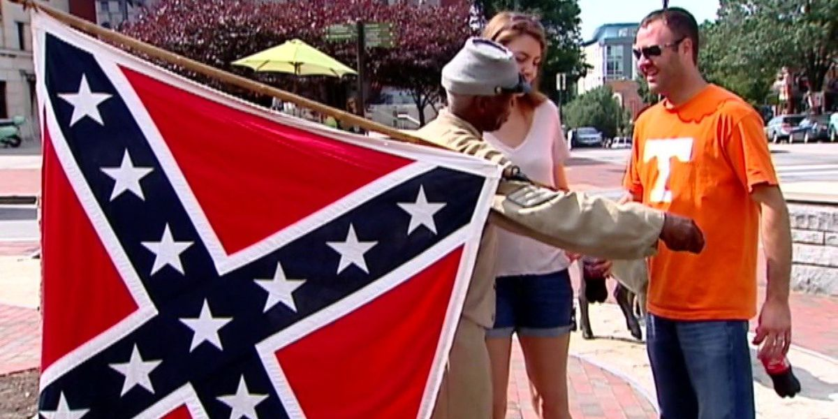 Former NAACP president vocally defends Confederate flag