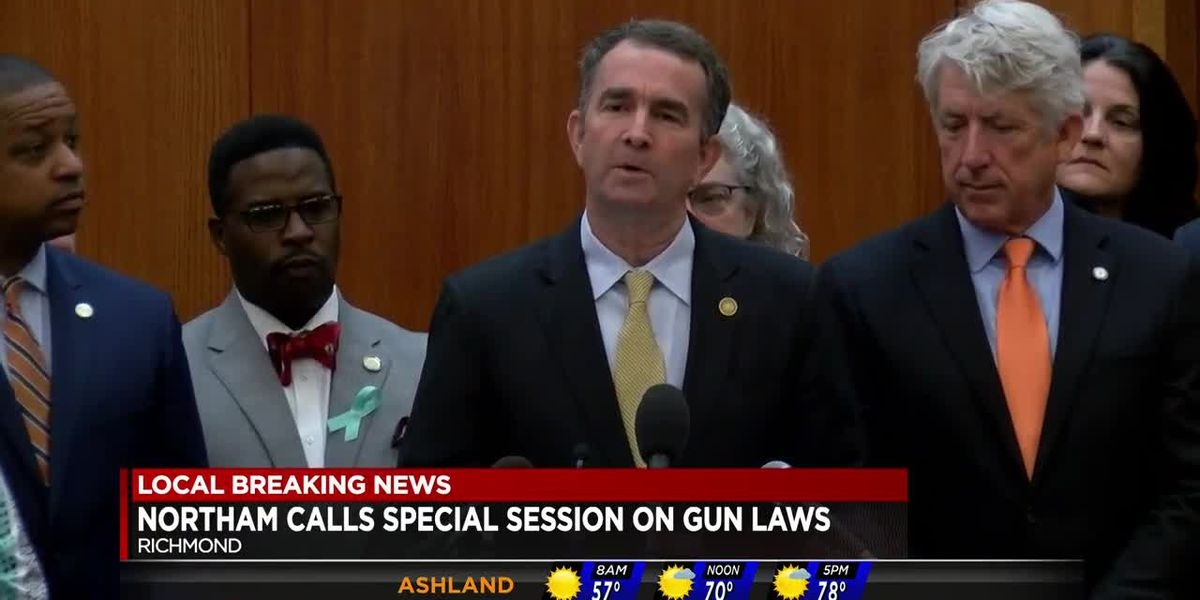 Northam calls for special session on gun laws