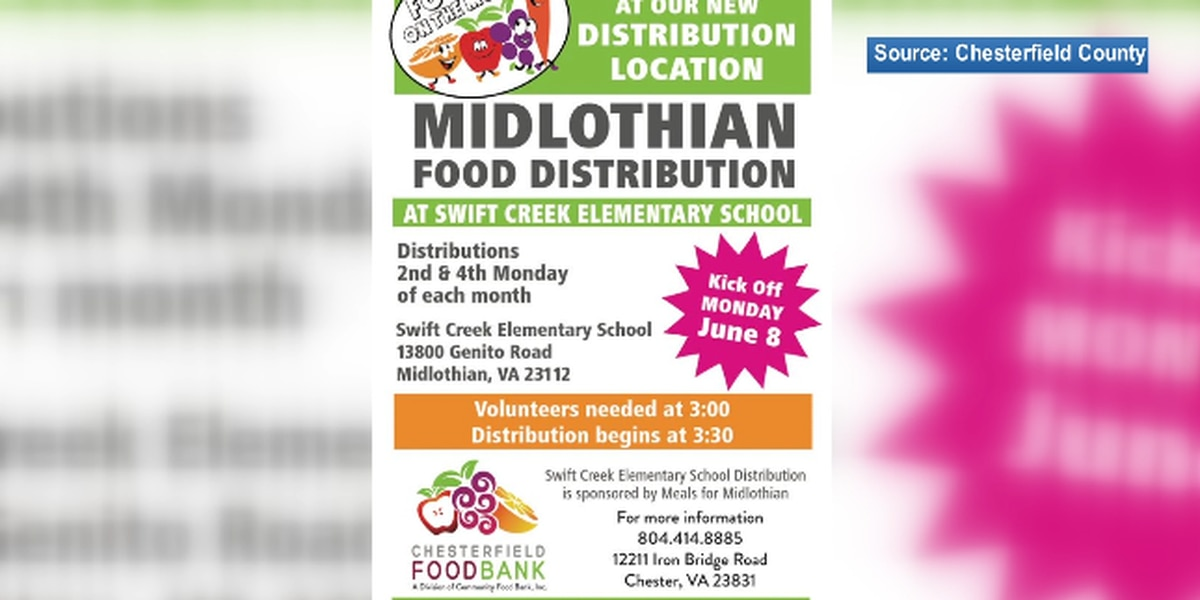 Chesterfield Food Bank adding additional food distribution site