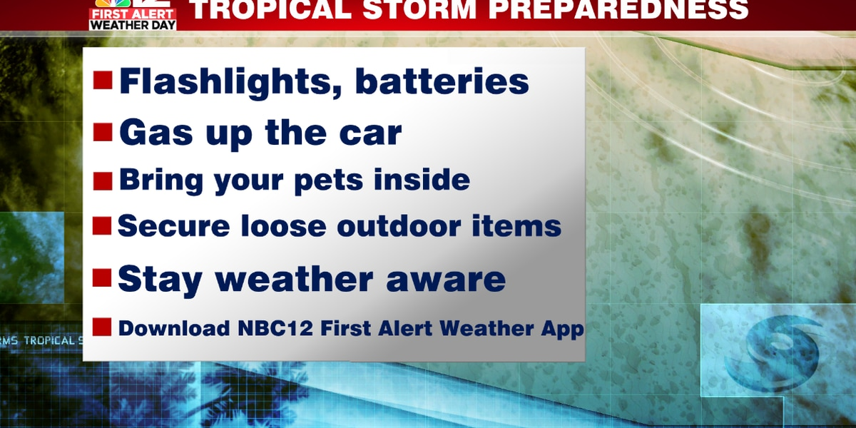 First Alert Weather Day: Tropical Storm Warning through Tuesday Includes metro Richmond