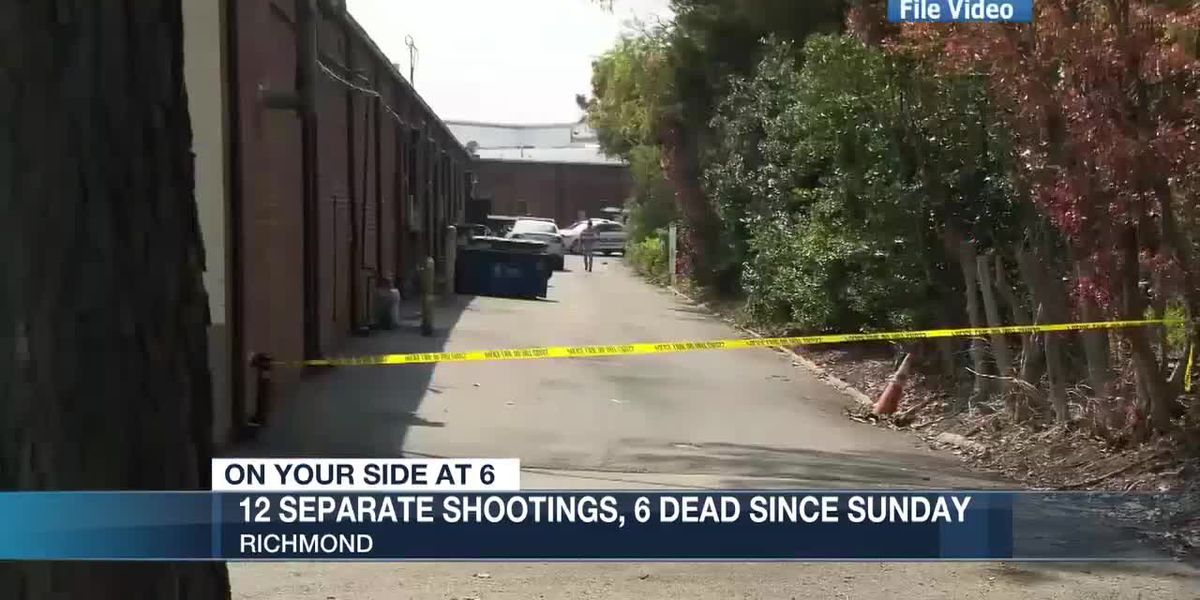 12 separate shootings in Richmond result in 6 dead since Easter