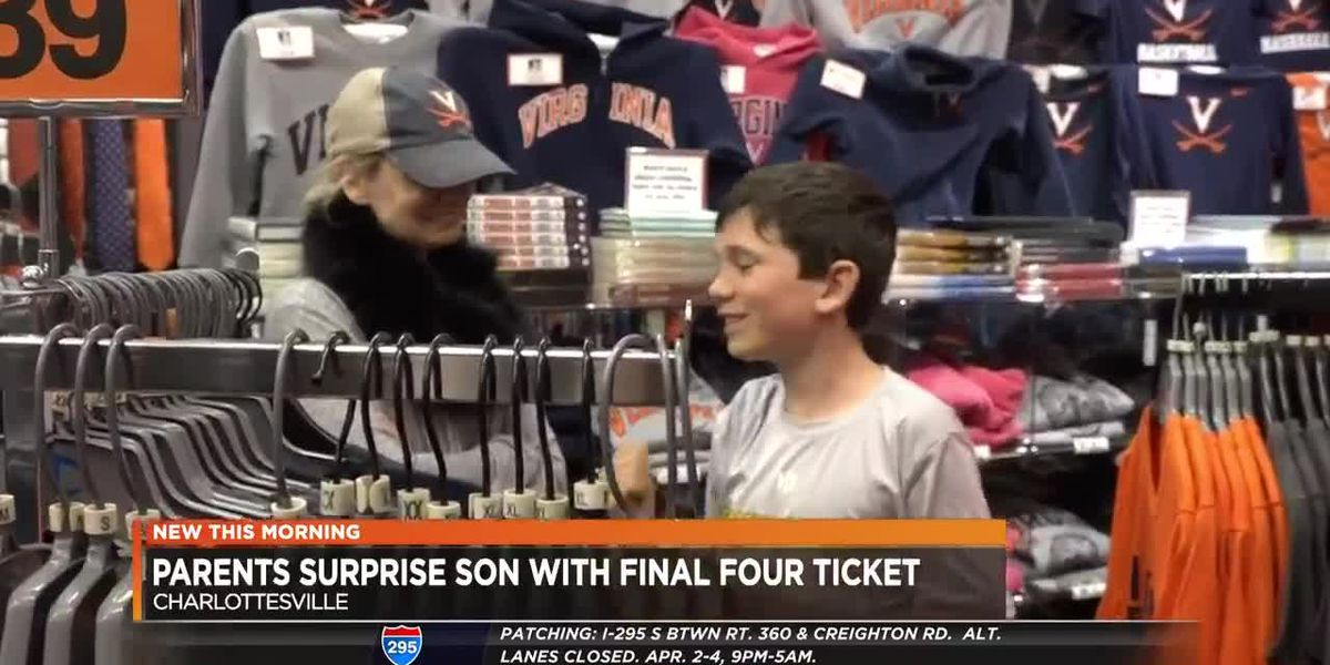 Parents surprise son with Final Four ticket
