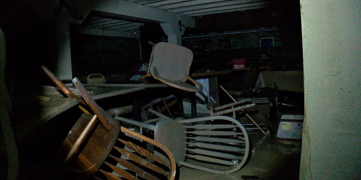 'There's chairs on the chandeliers': Swift Creek Mill Theatre raising money after historic flood
