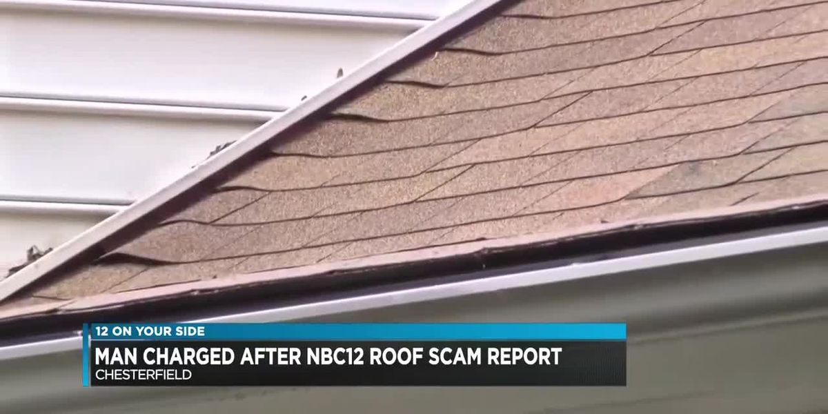 Man charged after NBC12 roof scam report