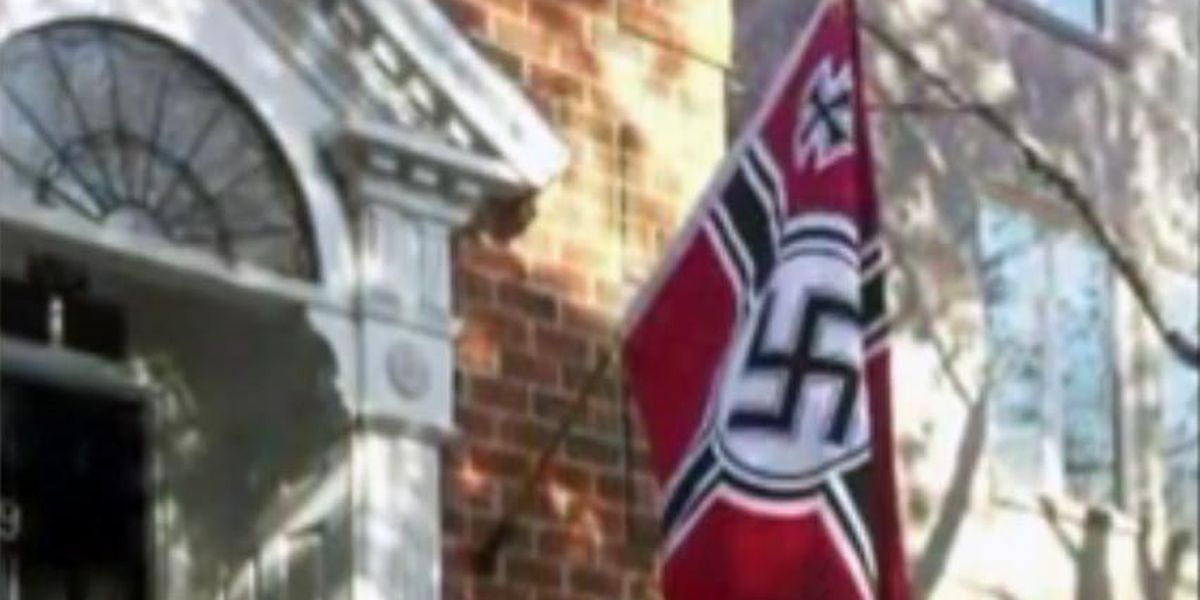 Norfolk neighbors find Nazi flag offensive