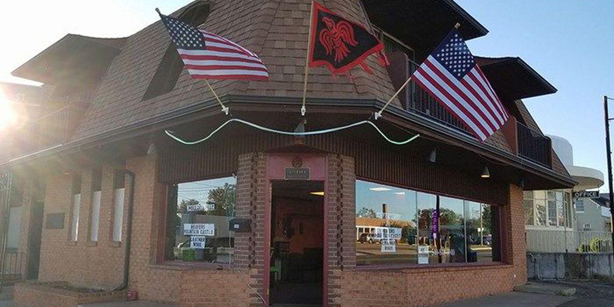 Symbols with Neo-Nazi ties displayed outside store in Fredericksburg, VA
