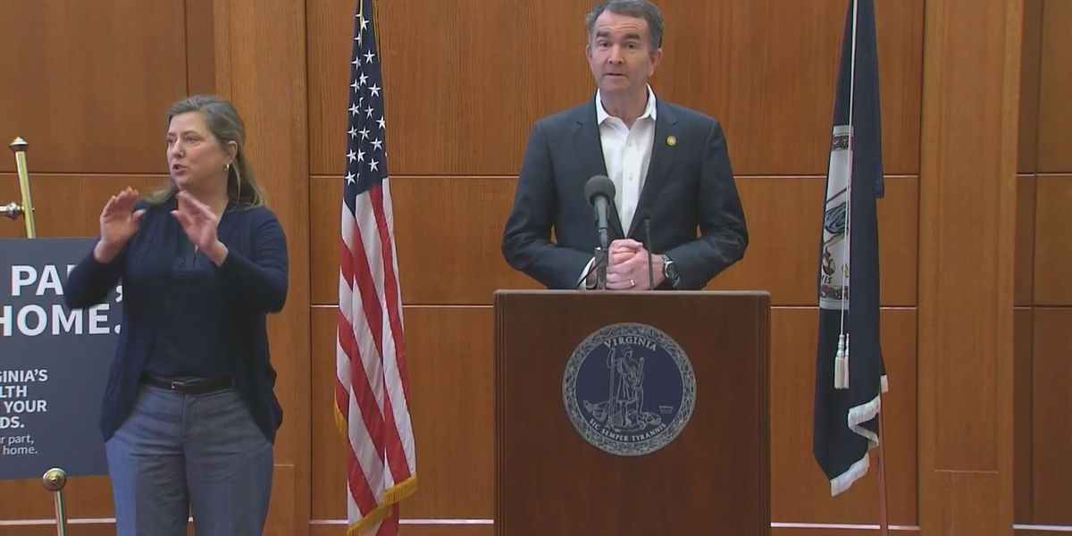Gov. Northam issues 'stay-at-home' order as COVID-19 cases surpass 1,000 in Virginia