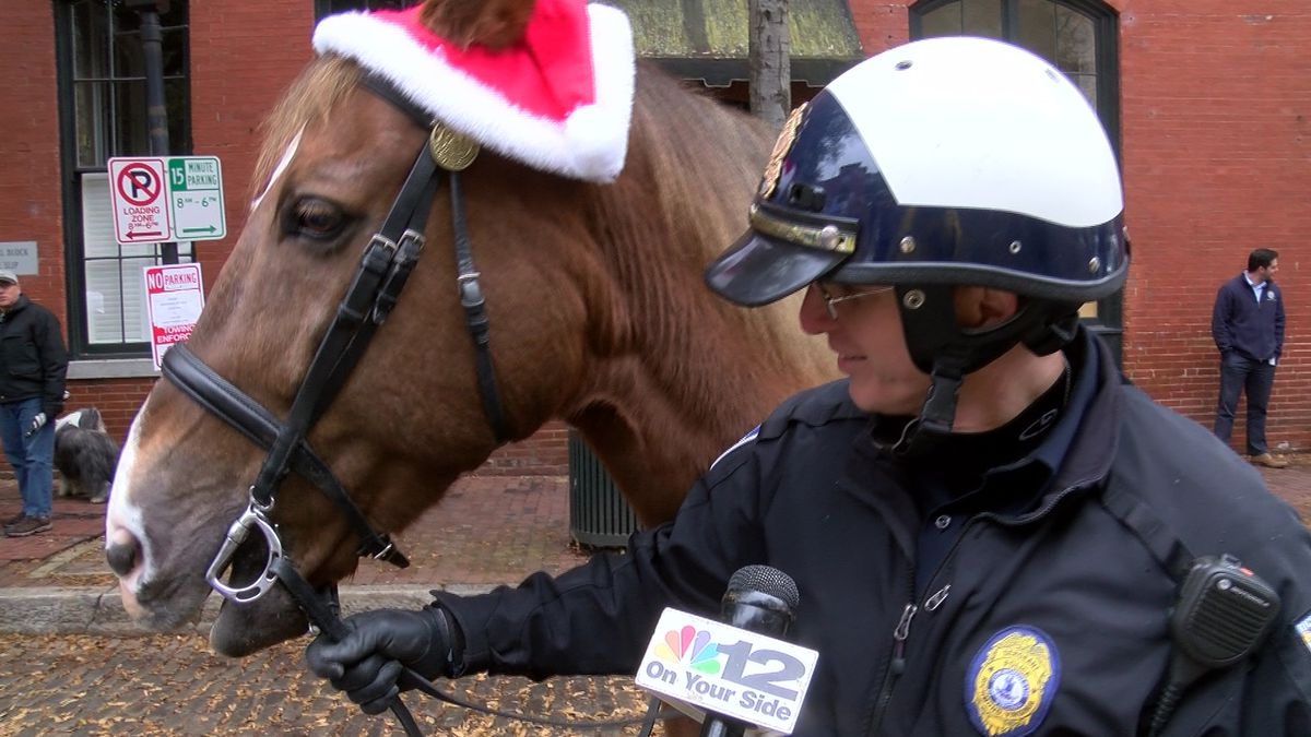 Richmond police horse kicks off retirement at 'Blessing of the Animals'