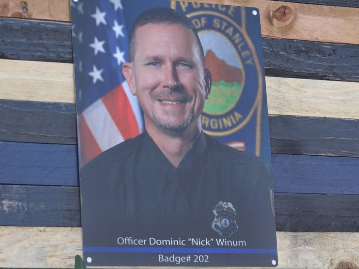 U.S., Va. flags lowered to half staff to honor Officer Winum