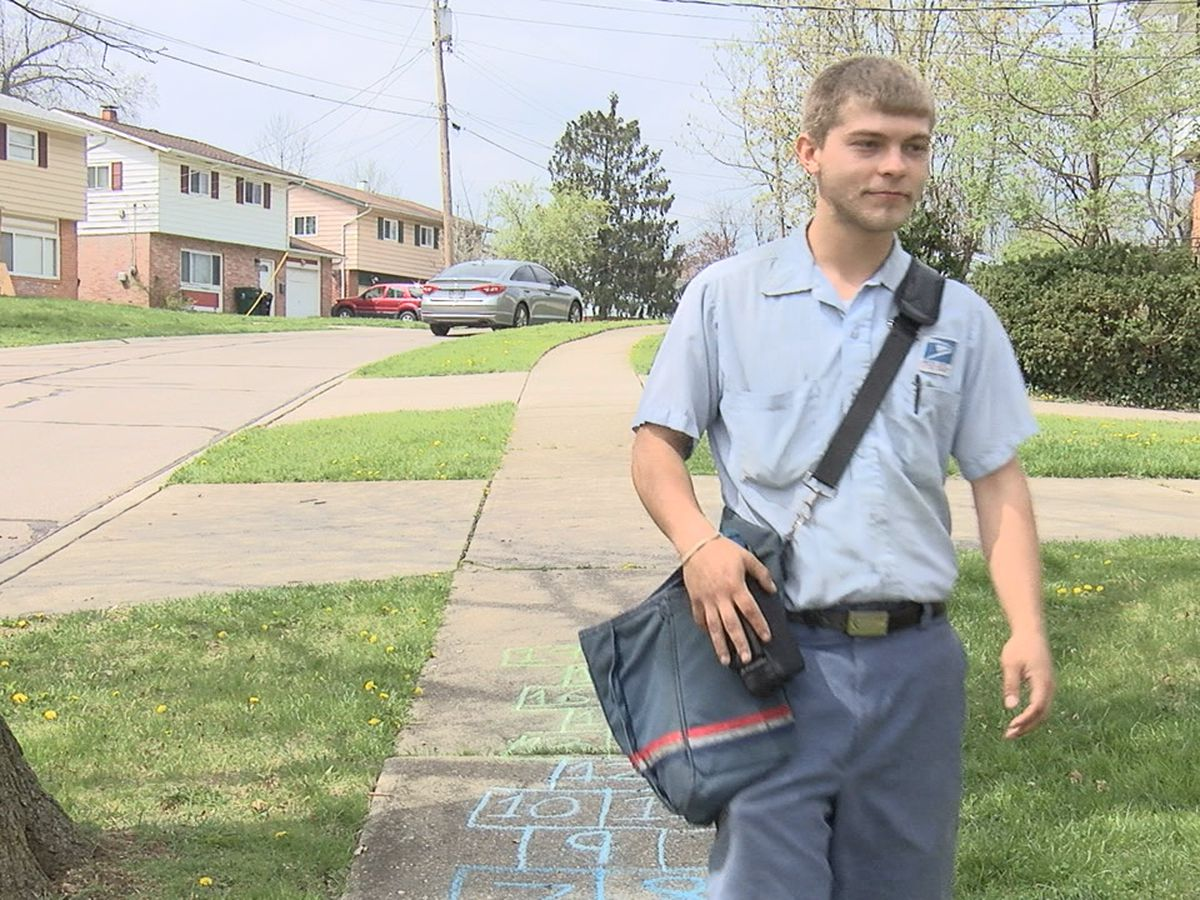 Cincy mailman helping customers on route with essential items