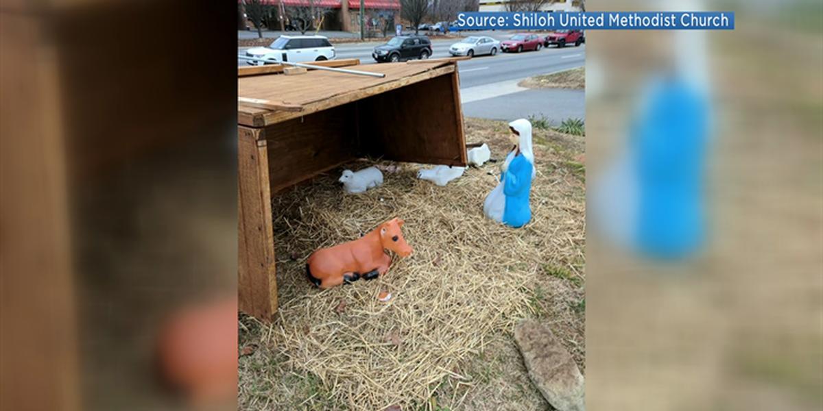 Vandals leave nativity scene in shambles
