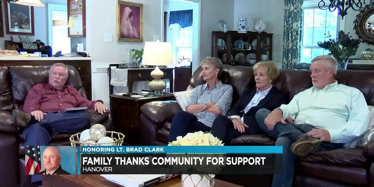 Lt. Brad Clark's family thanks community for love and support