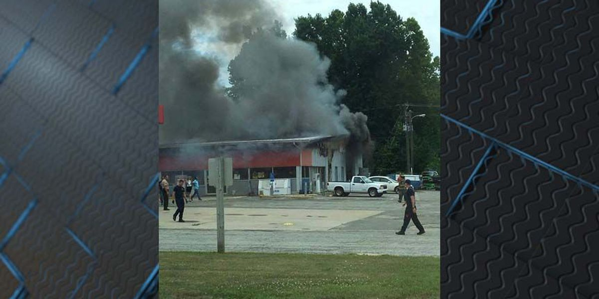 Smoke billows from truck stop in Amelia, several crews respond