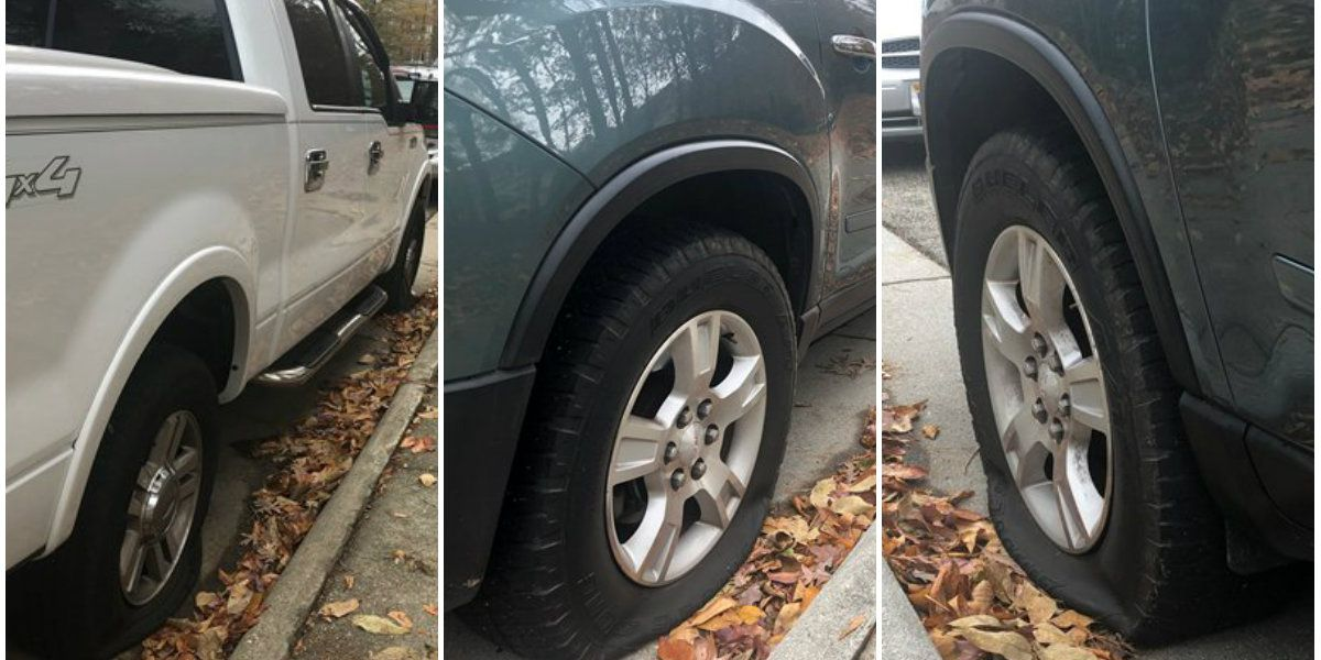 Tires on 9 vehicles punctured at Chesterfield high school