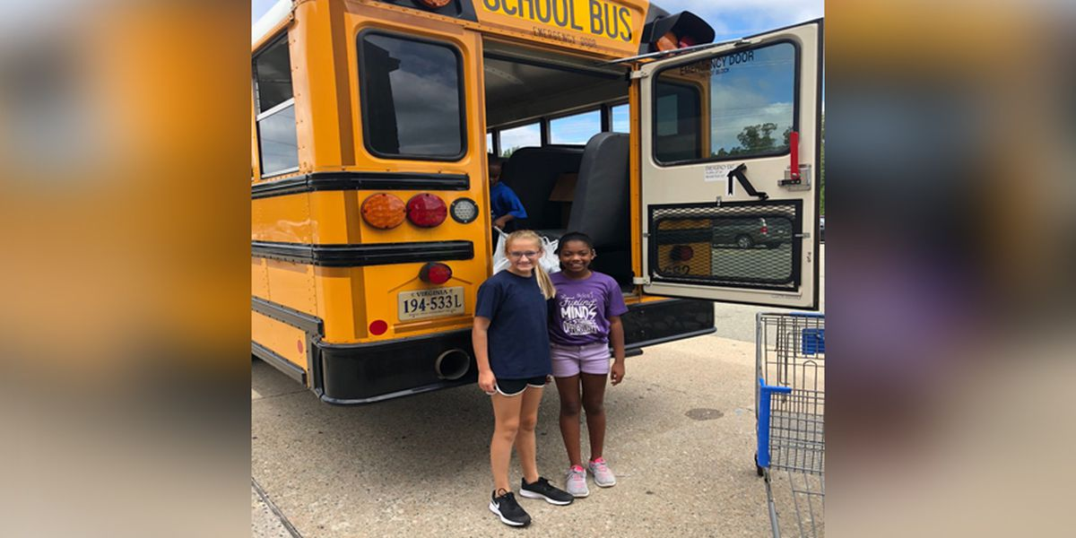 Stuff the Bus event collecting school supplies for Chesterfield students