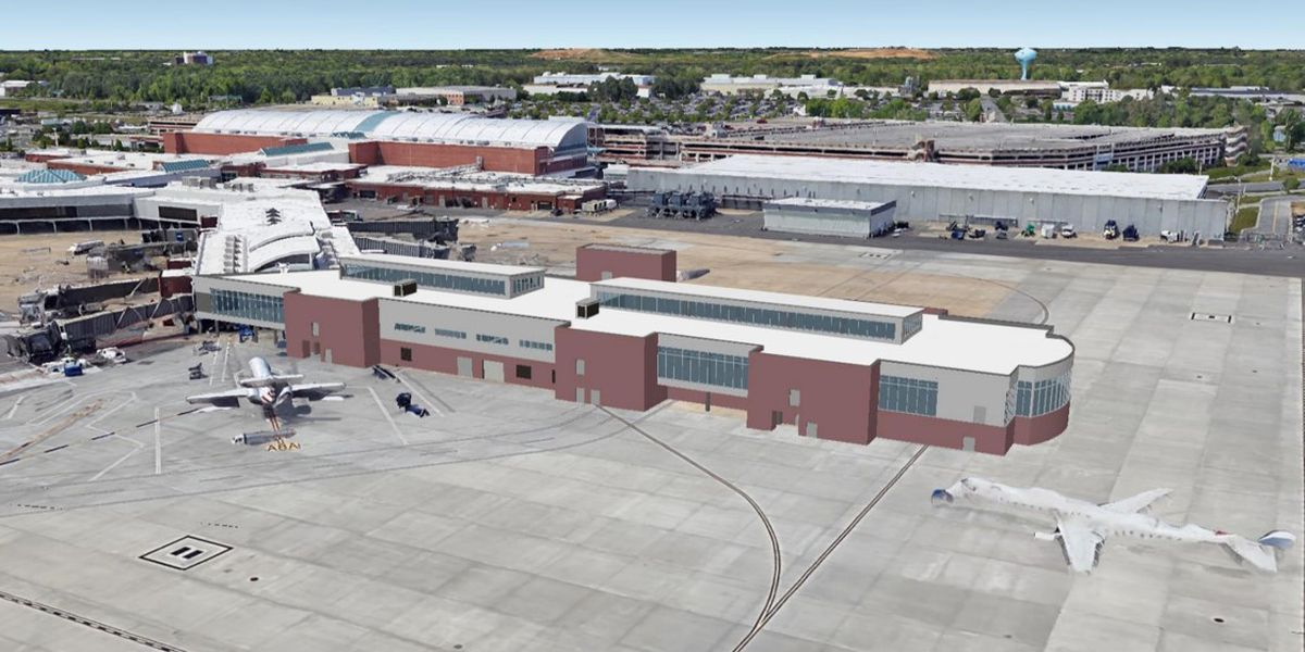 $28.4 million extension project at RIC to include 6 additional gates