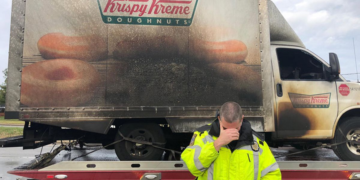Cops grieve Krispy Kreme Doughnuts lost in NYE truck fire: 'No words'