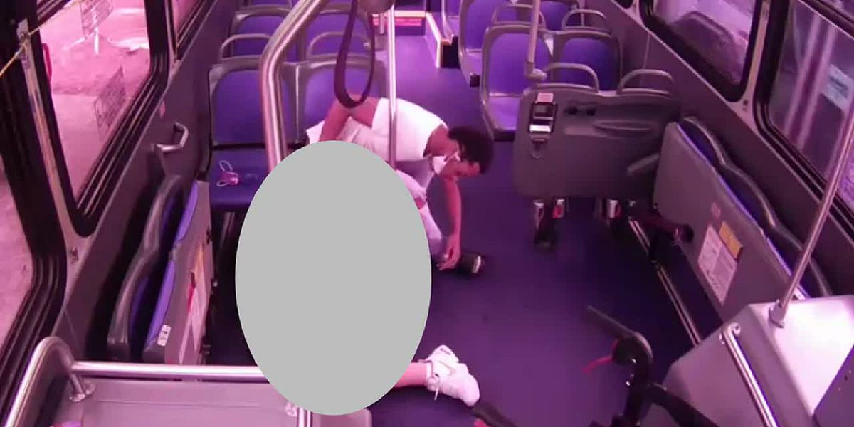 VIDEO: GRTC bus passenger robbed while having heart attack