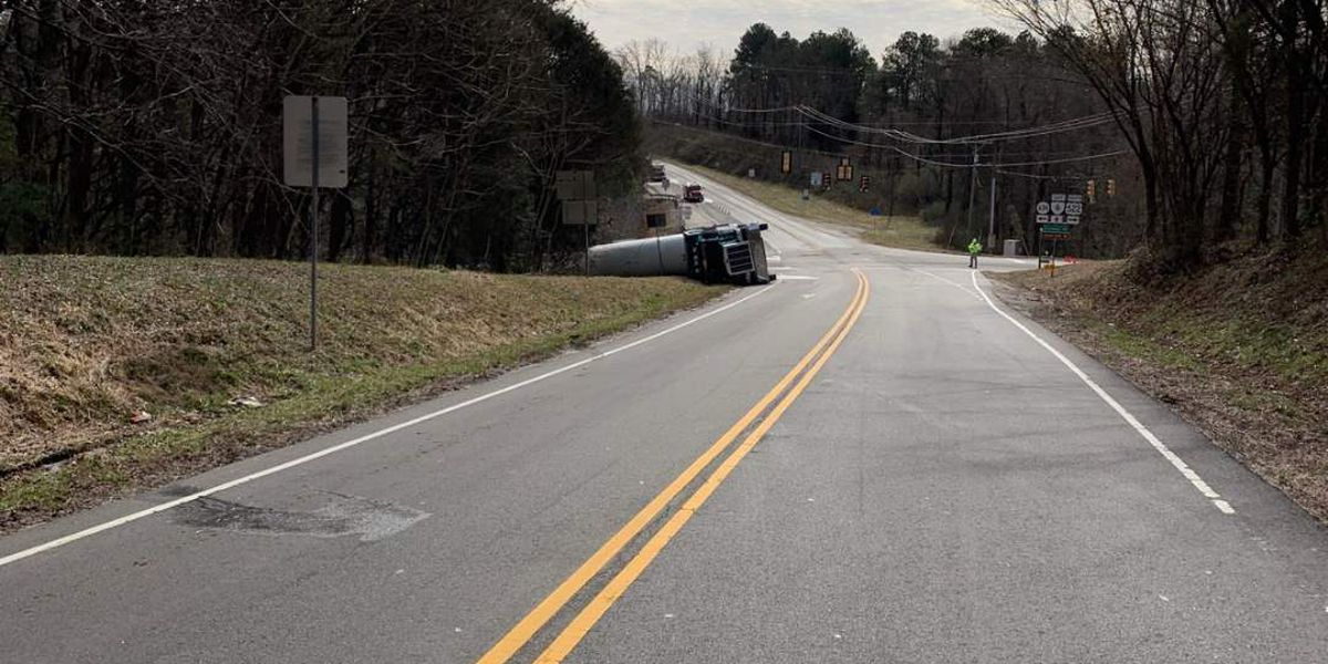 Tanker overturns, closes Goochland intersection