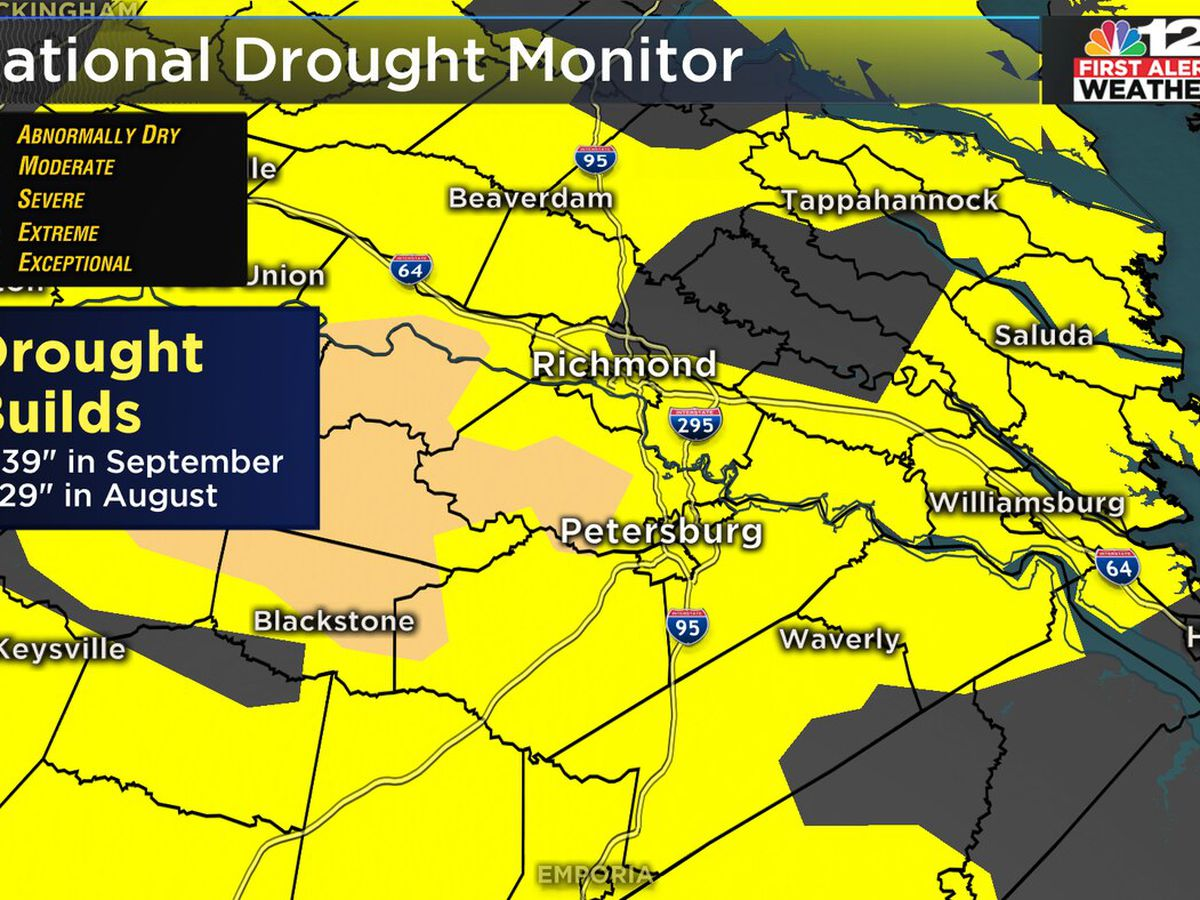 Drought conditions build over Virginia