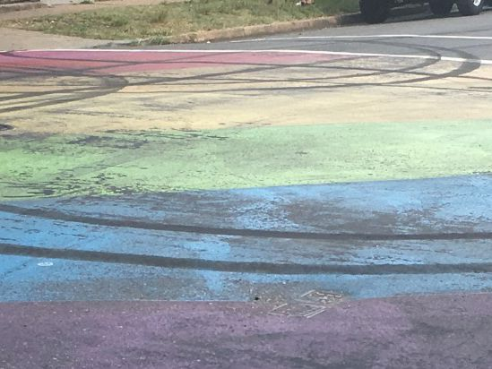 Driver defaces LGBTQ street mural in Richmond