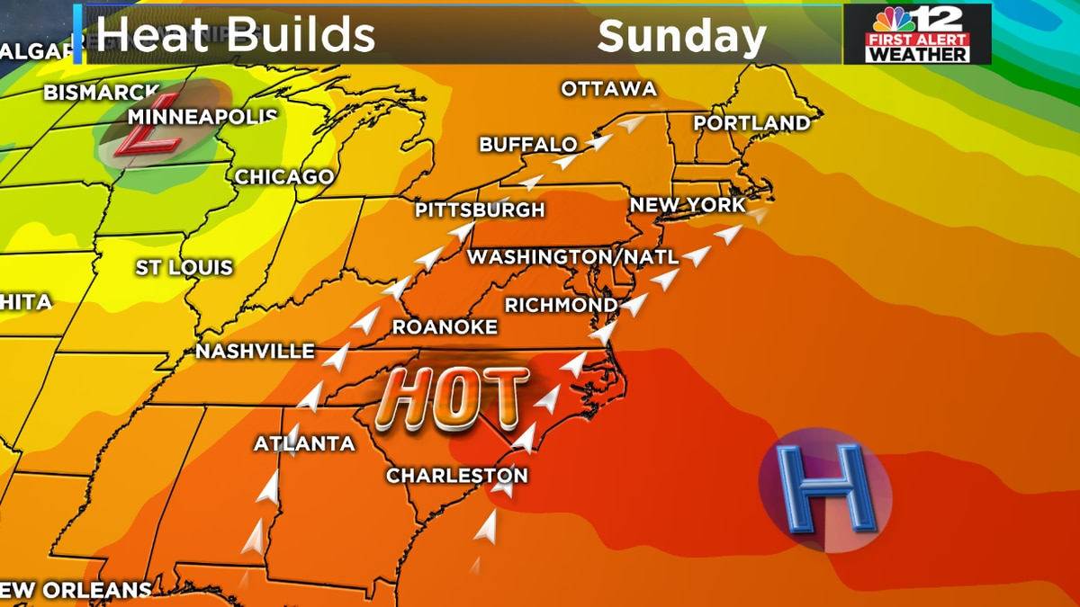 'Bermuda High' to increase temps this weekend