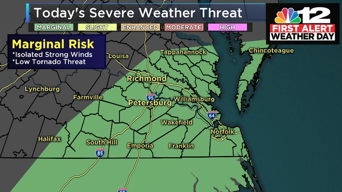 First Alert Weather Day: Severe storms possible