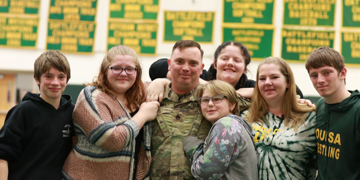 'I'm not going back at all:' Army SSgt. surprises children with homecoming after year of deployment