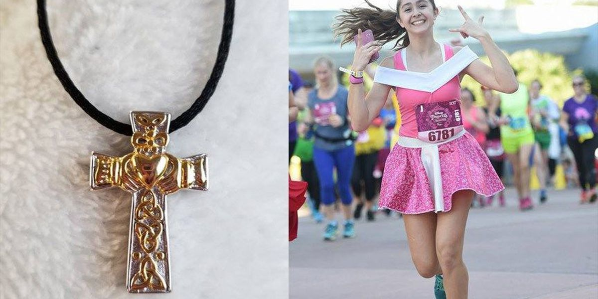 Woman loses necklace carrying daughter's ashes