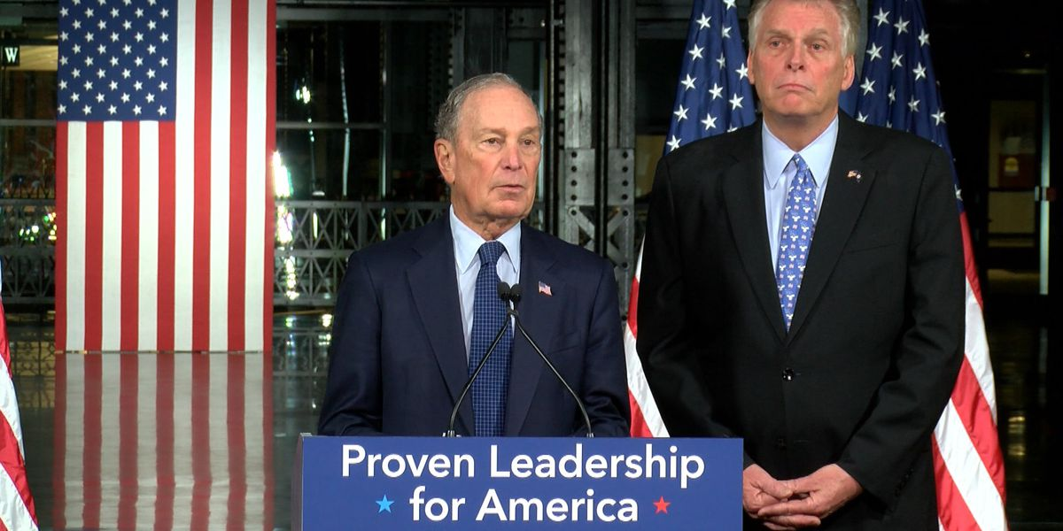 Presidential candidate Mike Bloomberg stops in Richmond