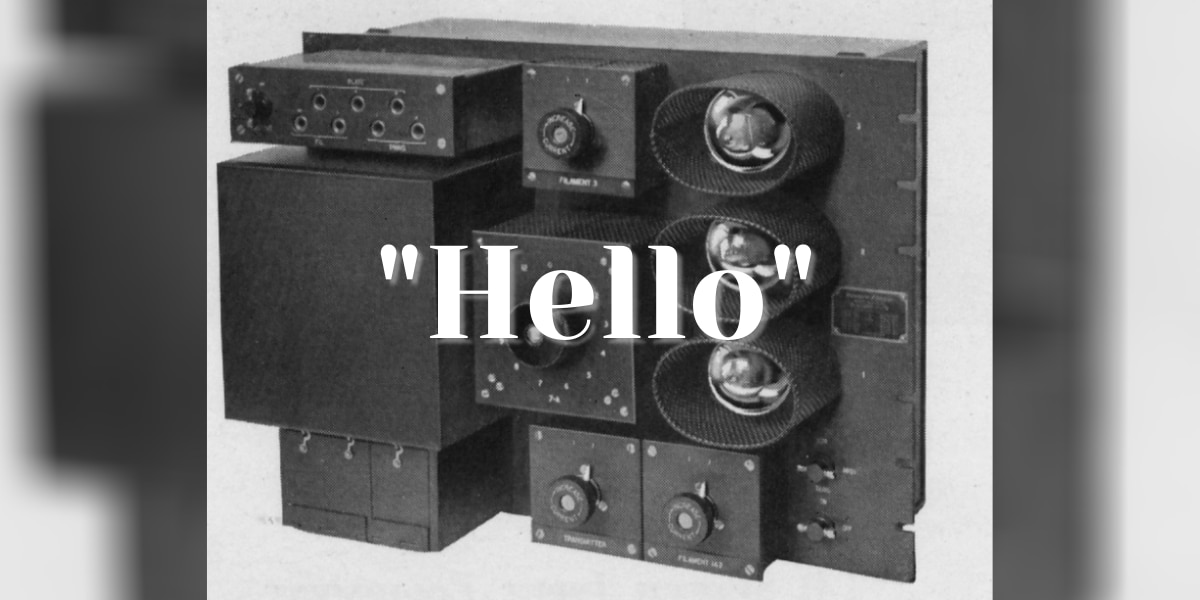 On This Day: The first transatlantic radio voice message is sent from Virginia