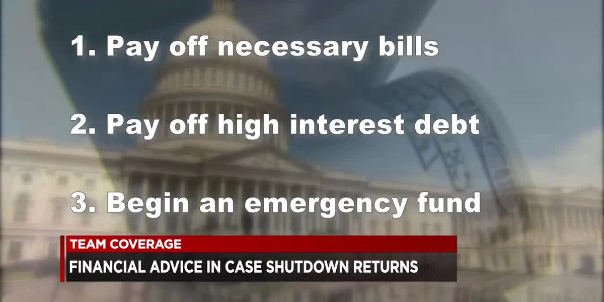 Financial firm gives advice for workers impacted by shutdown