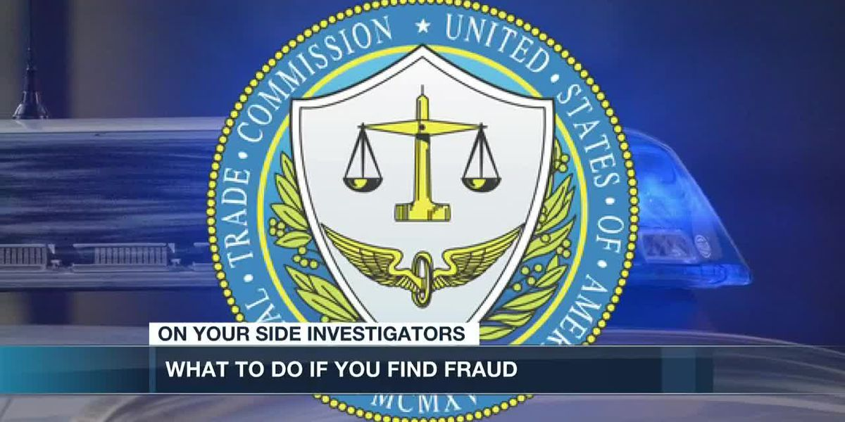 What to do if you find fraud