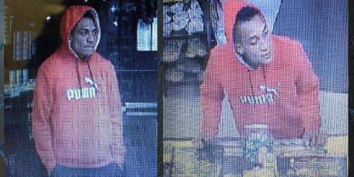 Suspect with knife steals cash from tobacco store